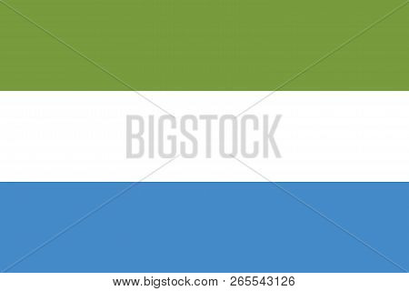 Vector Image For Sierra Leone Flag. Based On The Official And Exact Sierra Leone Flag Dimensions (3: