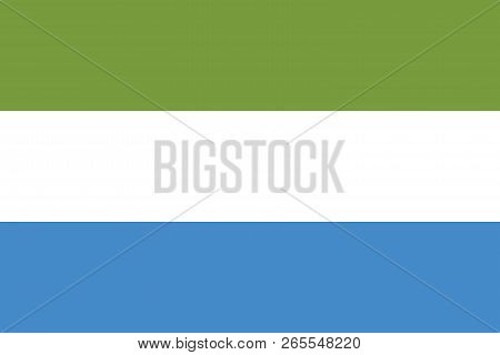 Vector image for Sierra Leone flag. Based on the official and exact Sierra Leone flag dimensions (3:2) & colors (377C, White and 279C)