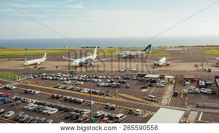 Ponta Delgada, Portugal - October 11, 2018: Airport In Ponta Delgada On The Azores Island Sao Miguel