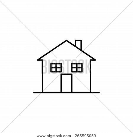Building, Home Outline Icon. Element Of Architecture Illustration. Premium Quality Graphic Design Ou