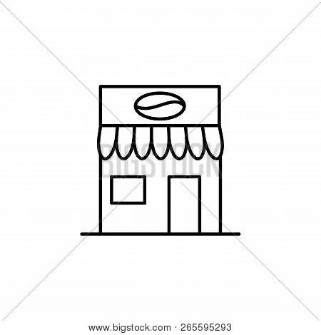Building, Coffee Outline Icon. Element Of Architecture Illustration. Premium Quality Graphic Design