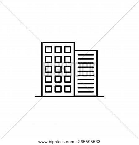 Building Outline Icon. Element Of Architecture Illustration. Premium Quality Graphic Design Outline