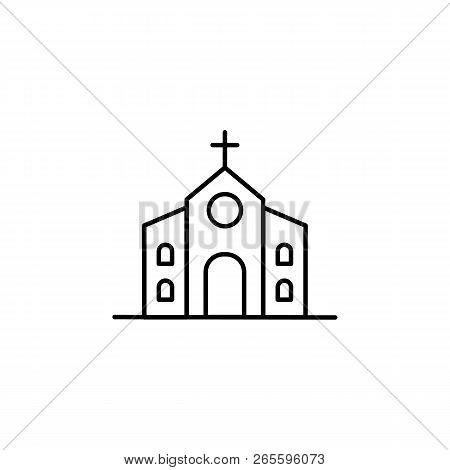 Building, Church Outline Icon. Element Of Architecture Illustration. Premium Quality Graphic Design