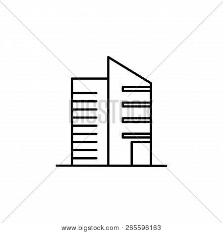 Building Outline Icon Vector Photo Free Trial Bigstock
