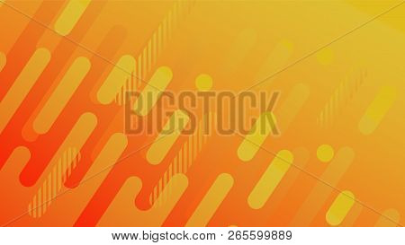 Abstract Geometric Line Pattern Background For Business Brochure Cover Design. Yellow, Red, Orange,