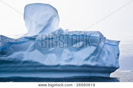 Antarctic iceberg in the snow poster