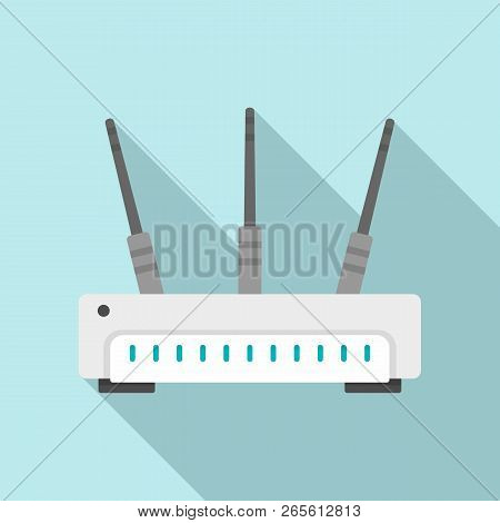 Wifi Router Icon. Flat Illustration Of Wifi Router Vector Icon For Web Design