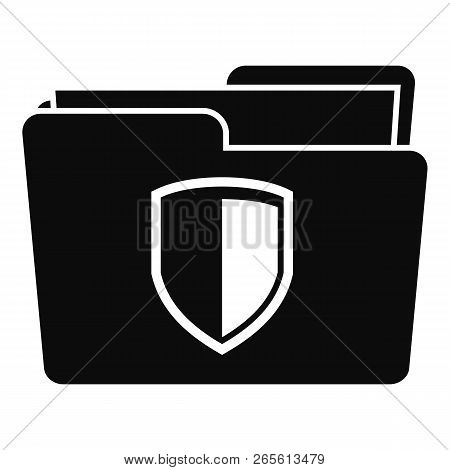Protected Folder Icon. Simple Illustration Of Protected Folder Vector Icon For Web Design Isolated O