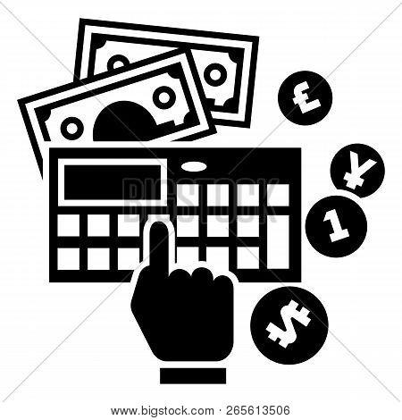 Accounting Calculator Icon. Simple Illustration Of Accounting Calculator Vector Icon For Web Design