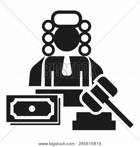 Judge Bribery Icon. Simple Illustration Of Judge Bribery Vector Icon For Web Design Isolated On Whit