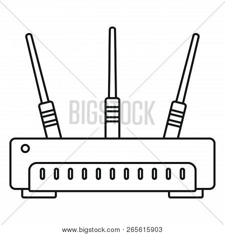 Wifi Router Icon. Outline Illustration Of Wifi Router Vector Icon For Web Design Isolated On White B