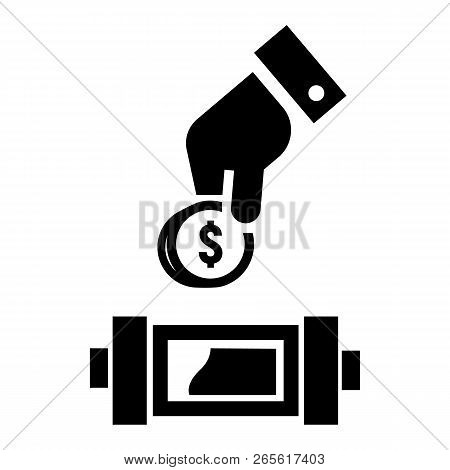 Put Economy Money Coin Icon. Simple Illustration Of Put Economy Money Coin Vector Icon For Web Desig
