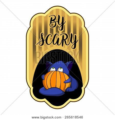 Scary Halloween Logo. Cartoon Of Scary Halloween Vector Logo For Web Design Isolated On White Backgr
