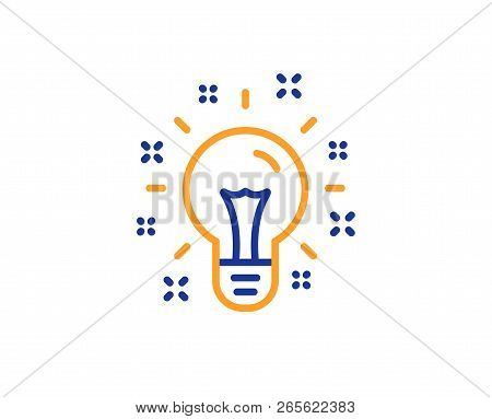 Idea Line Icon. Light Bulb Or Lamp Sign. Creativity, Solution Or Thinking Symbol. Colorful Outline C