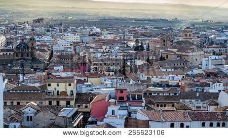 Cityscape At Sunset Of Granada, Spain