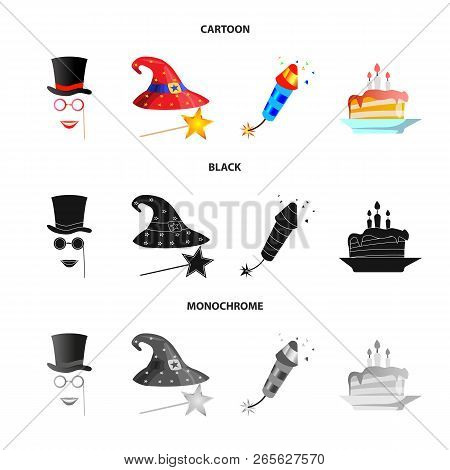 Vector Design Of Party And Birthday Icon. Collection Of Party And Celebration Stock Symbol For Web.