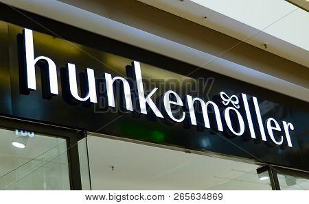 Wetzlar, Germany - August 29, 2017: Hunkemöller Lingerie Store. Hunkemöller Is A Clothing Manufactur