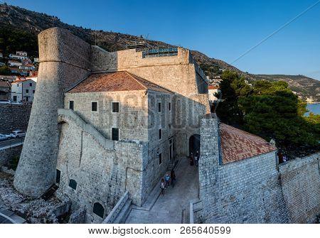 Dubrovnik, Croatia, July 29, 2018: Revelin Fort In Dubrovnik, Croatia, Completed In 1549 And Survive