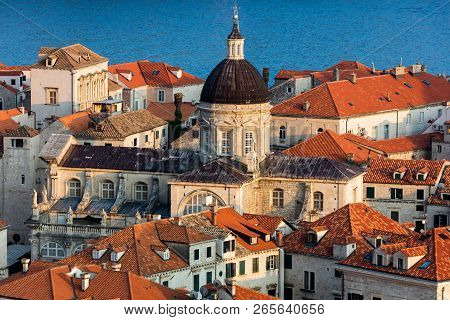 Cathedral Of The Assumption In Dubrovnik, Croatia, Originated In The 12th Century, Destroyed In The
