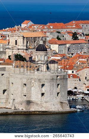 Dubrovnik, Croatia, July 31, 2018: Fort Of St. John In Dubrovnik, Croatia, Dates Back To The 16th Ce
