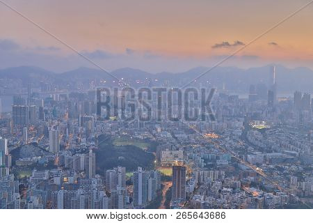A Middle Kowloon View At Lion Rock
