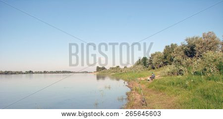 Fishing On The River Irtysh, Omsk Region, Siberia, Russia