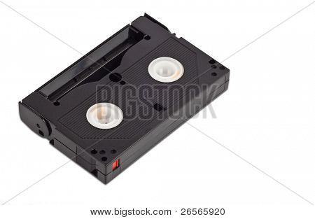 Video casette on a white background