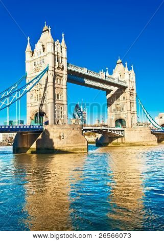 The TowerBridge in London on a bright sunny day
