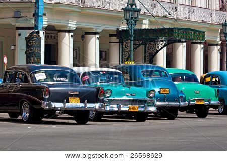 HAVANA-JULY 6:Classic cars July 6,2011 in Havana.Under the current law that the government plans to change before 2012,Cubans can only freely buy and sell cars that were on the road before 1959