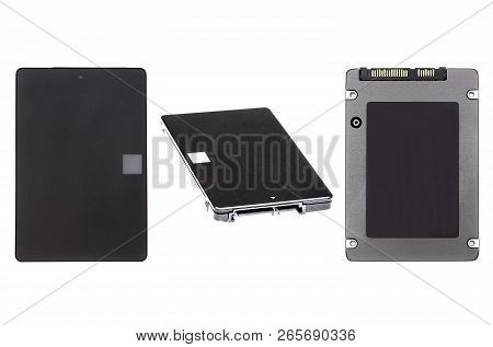 SSD. Solid State Drive isolated on white bacground poster