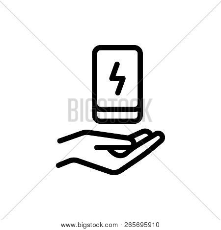 Power Bank Flat Icon. Single High Quality Outline Symbol Of Info For Web Design Or Mobile App. Thin