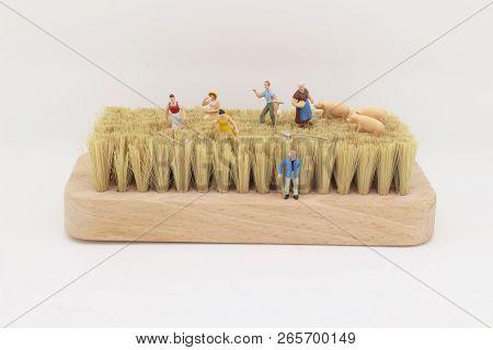 A Fun Of Figure Of Farmer Theme