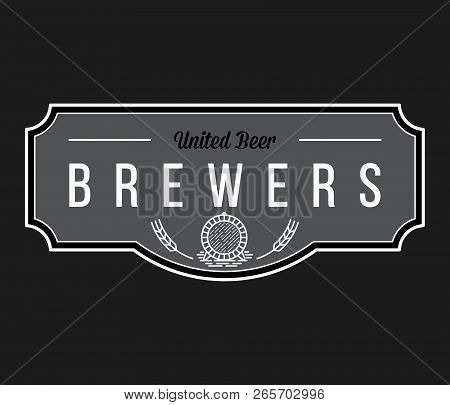 Beer From Brewers White On Black Is A Vector Illustration About Drinking