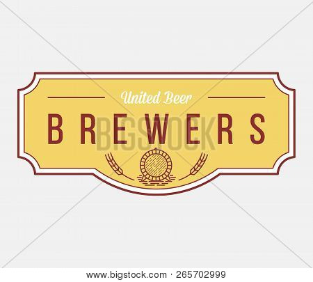 Beer From Brewers Is A Vector Illustration About Drinking