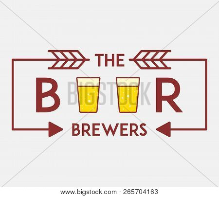 Beer Premium Brewers Is A Vector Illustration About Drinking