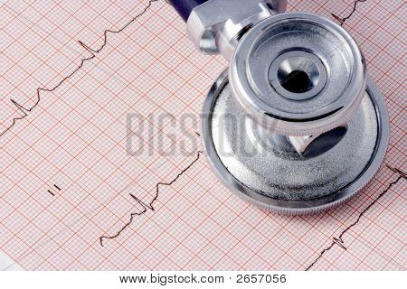 Ekg And Stethoscope