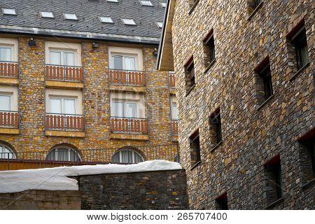 Pas de la Casa ski village of Andorra in Grandvalira sector poster