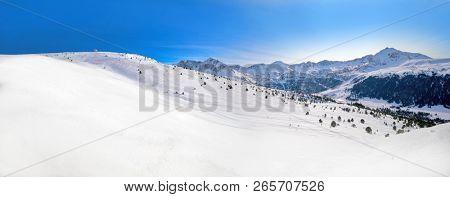 Andorra Grandvalira sector near Pas de la Casa in Pyrenees mountains poster