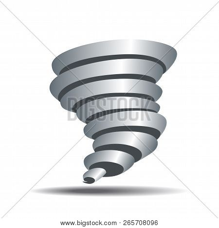 Tornado Icon. Tornado Storm Sign Isolated On White