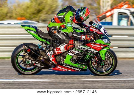 Jerez De La Frontera - October 16, 2016: World Superbike Warm Up Tom Sykes, Kawasaki Racing Team, 66