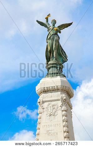 Nice, France - September 15, 2018: Century Monument (monument Du Centenaire) On Promenade Des Anglai