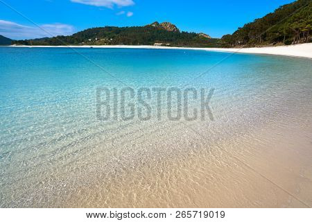 Islas Cies islands Rodas beach turquoise near Vigo of Galicia Spain