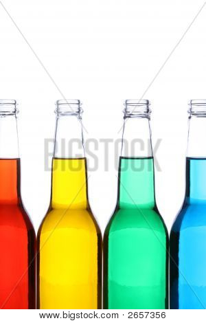 Bottles Isolated On White