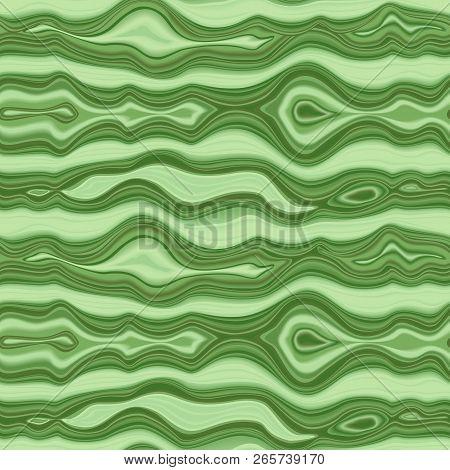 Malachite Seamless Pattern. Green Vector Repeat Texture.