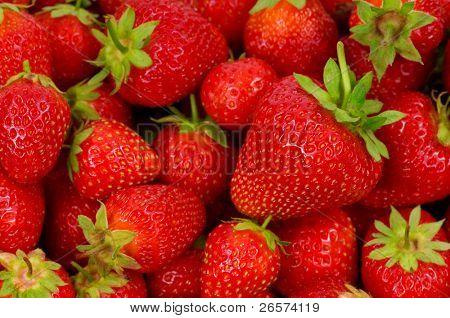 frische Reifen perfekt erdbeere essen Frame background