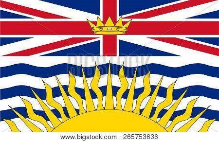 Vector Flag Of British Columbia Canada. Vancouver