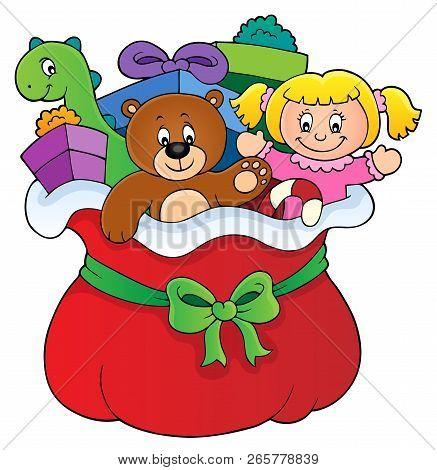 Christmas Bag Topic Image 1 - Eps10 Vector Illustration.
