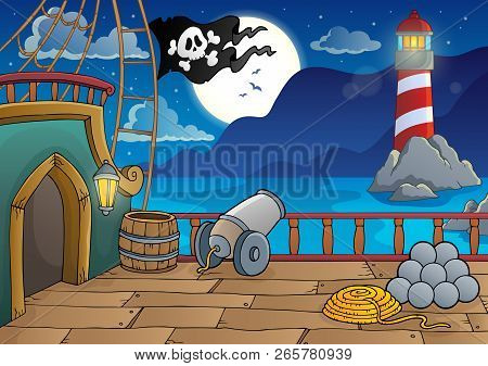 Pirate Ship Deck Topic 8 - Eps10 Vector Illustration.