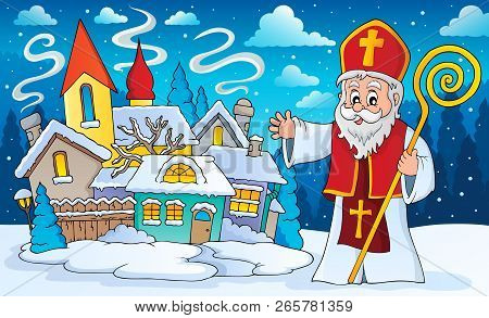 Saint Nicholas Topic Image 3 - Eps10 Vector Illustration.