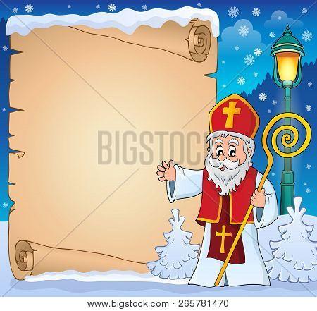 Saint Nicholas Topic Parchment 3 - Eps10 Vector Illustration.
